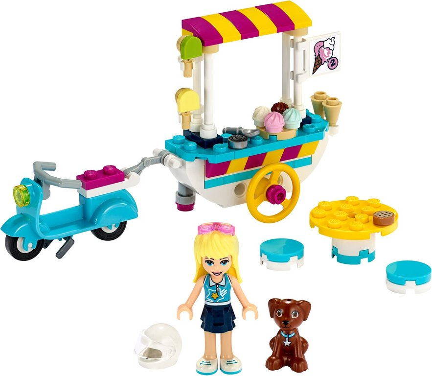 LEGO® Friends Ice Cream Cart components