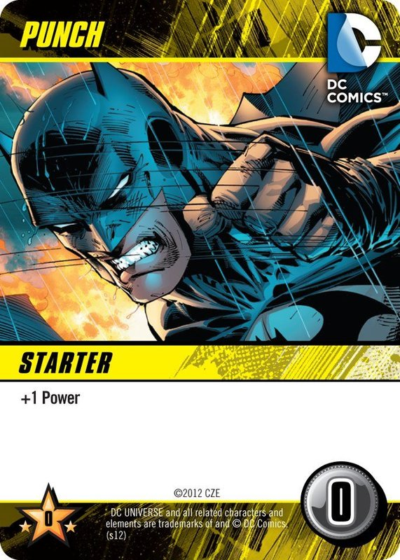 DC Comics Deck-Building Game Punch card