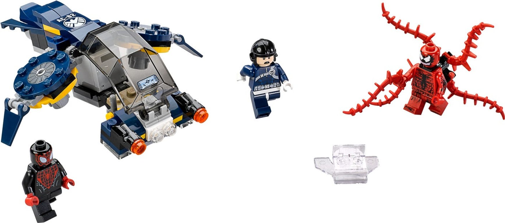 LEGO® Marvel Carnage's SHIELD Sky Attack components