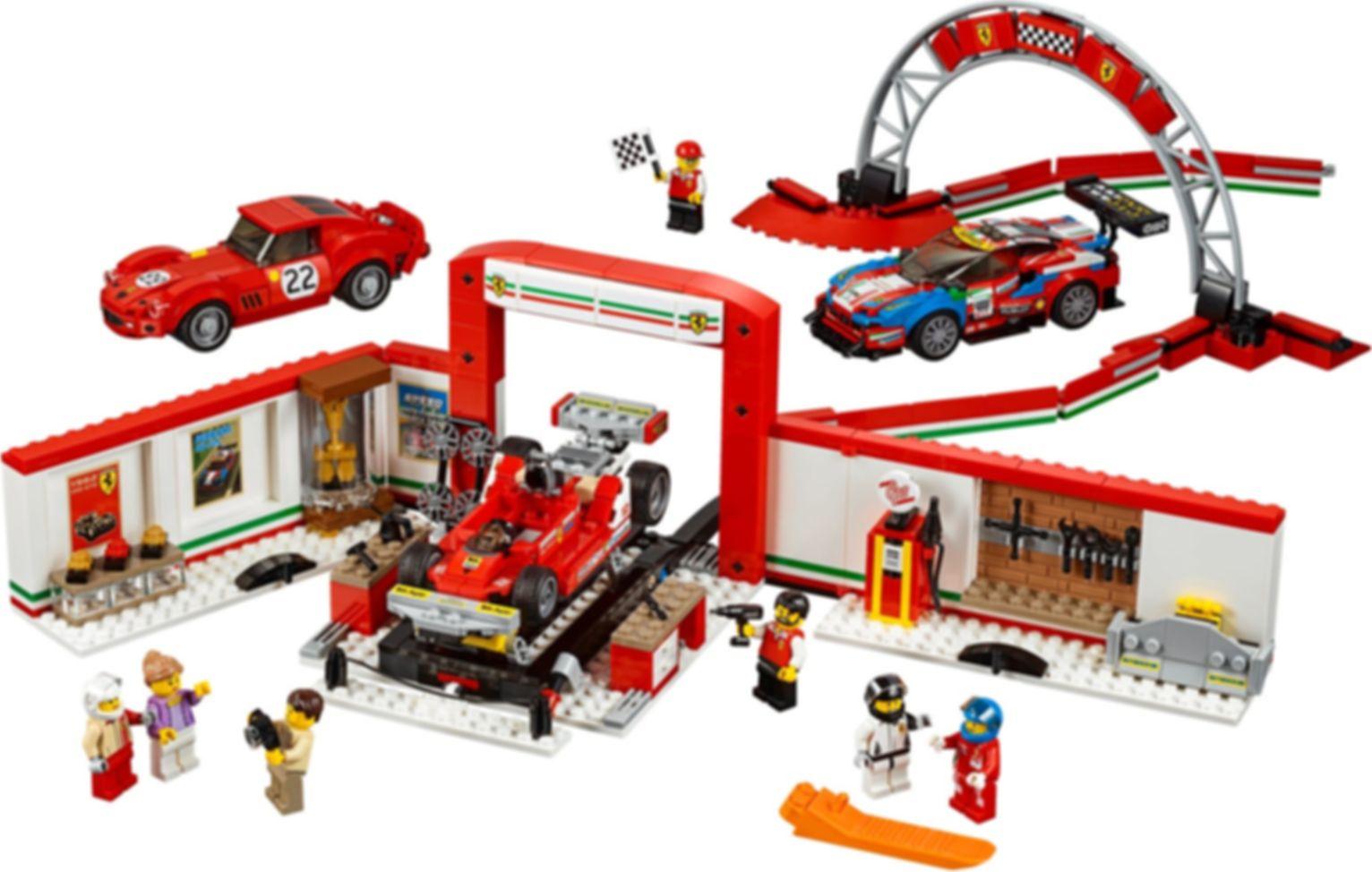 LEGO® Speed Champions Ferrari Ultimate Garage components