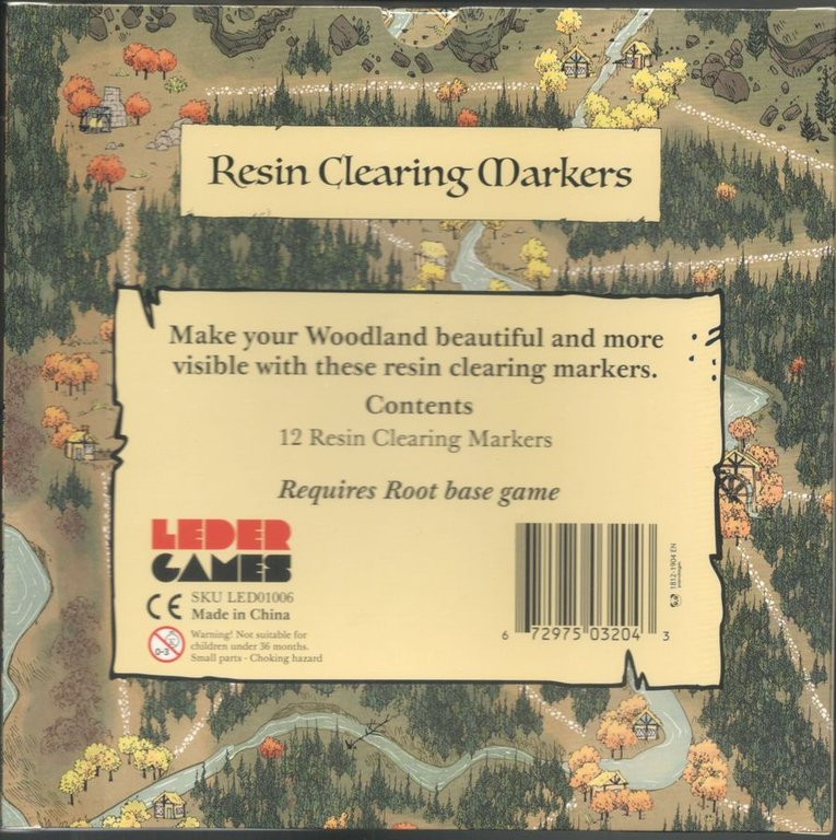 Root : Resin Clearing Markers back of the box