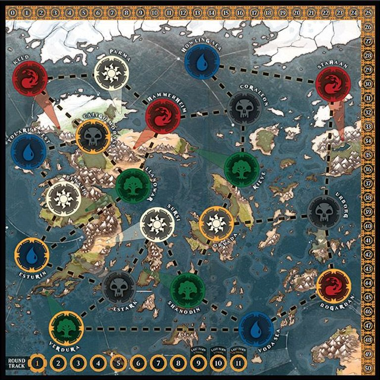 Magic: The Gathering - Heroes of Dominaria game board