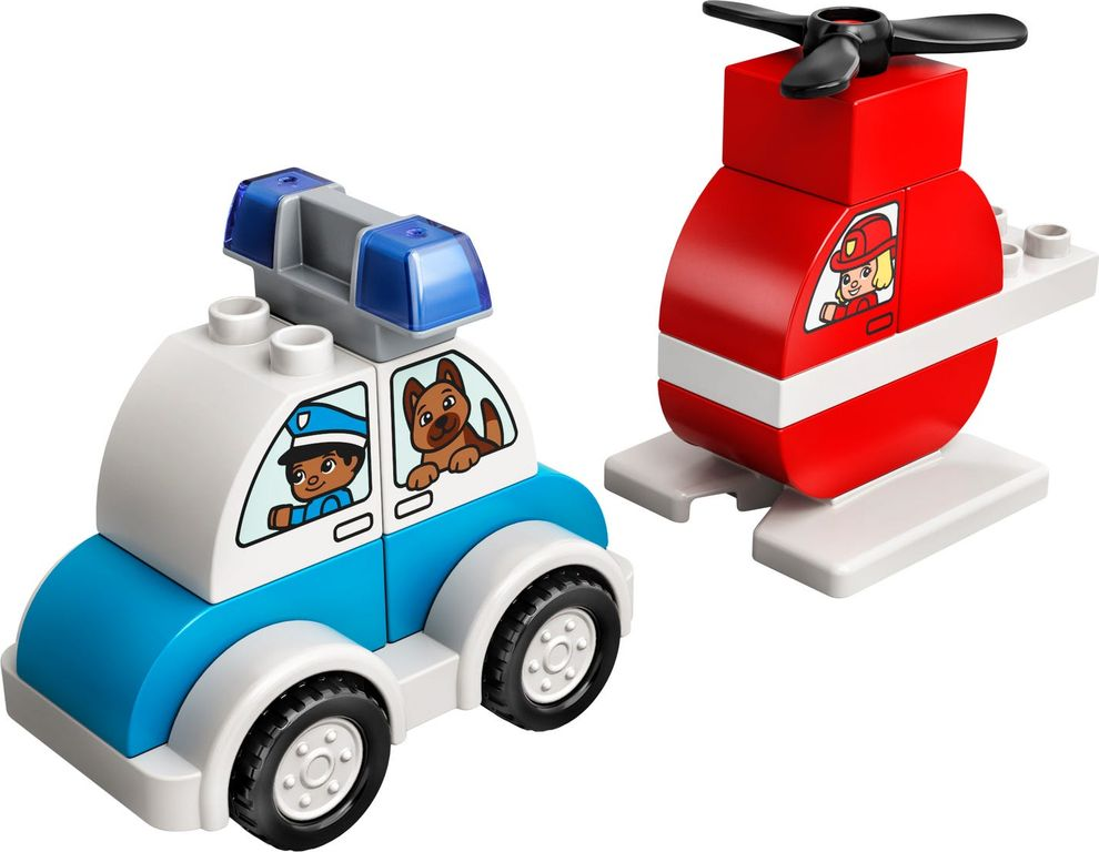 LEGO® DUPLO® Fire Helicopter & Police Car components