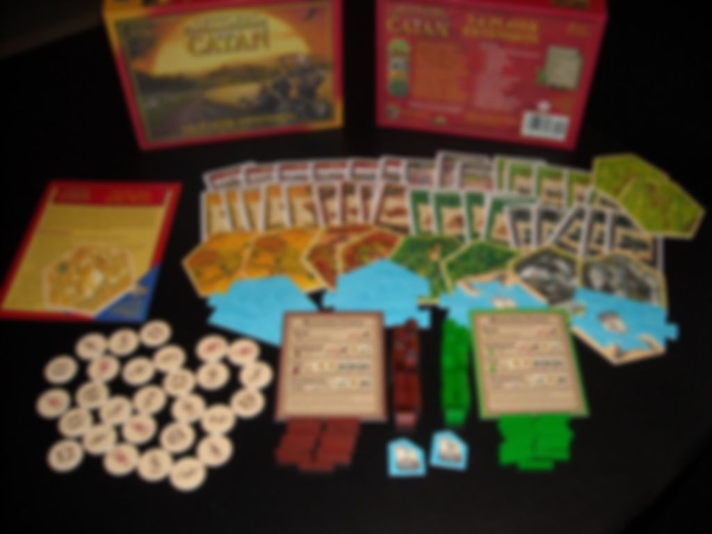 Catan: 5-6 Player Extension components