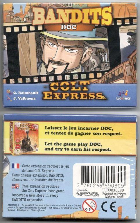 Colt Express: Bandits – Doc back of the box