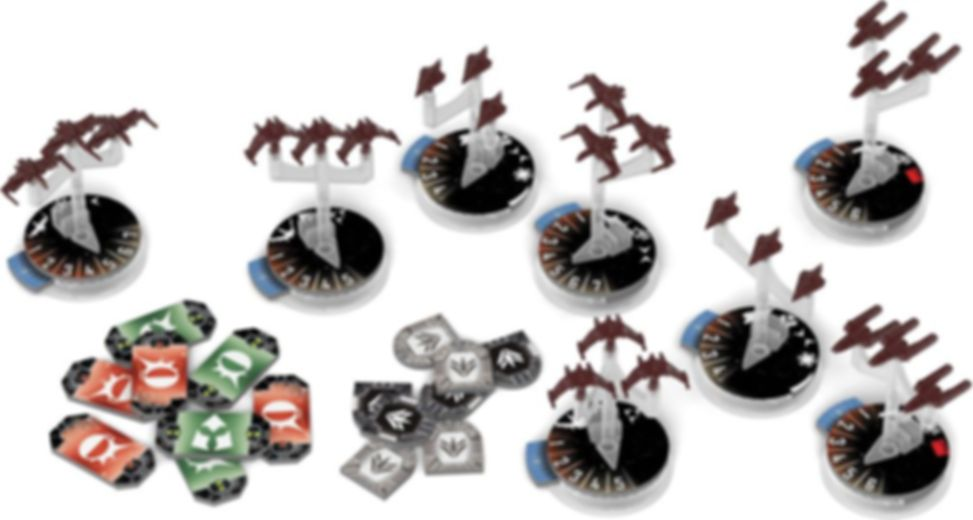 Star Wars: Armada - Republic Fighter Squadrons Expansion Pack components