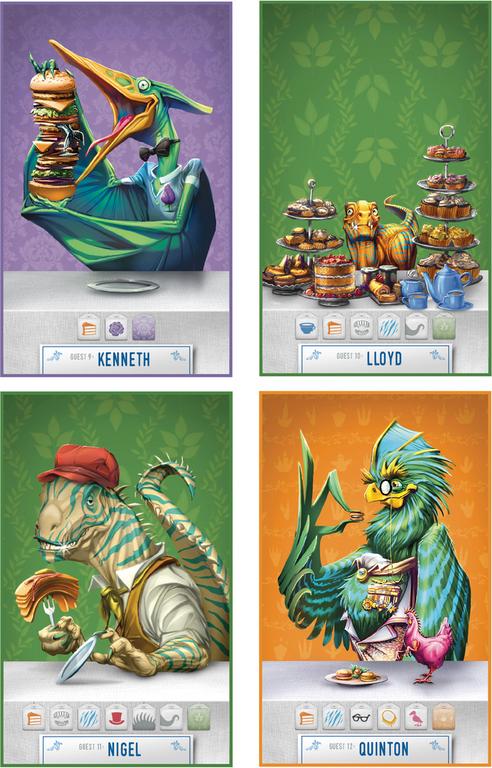 Dinosaur Tea Party cards