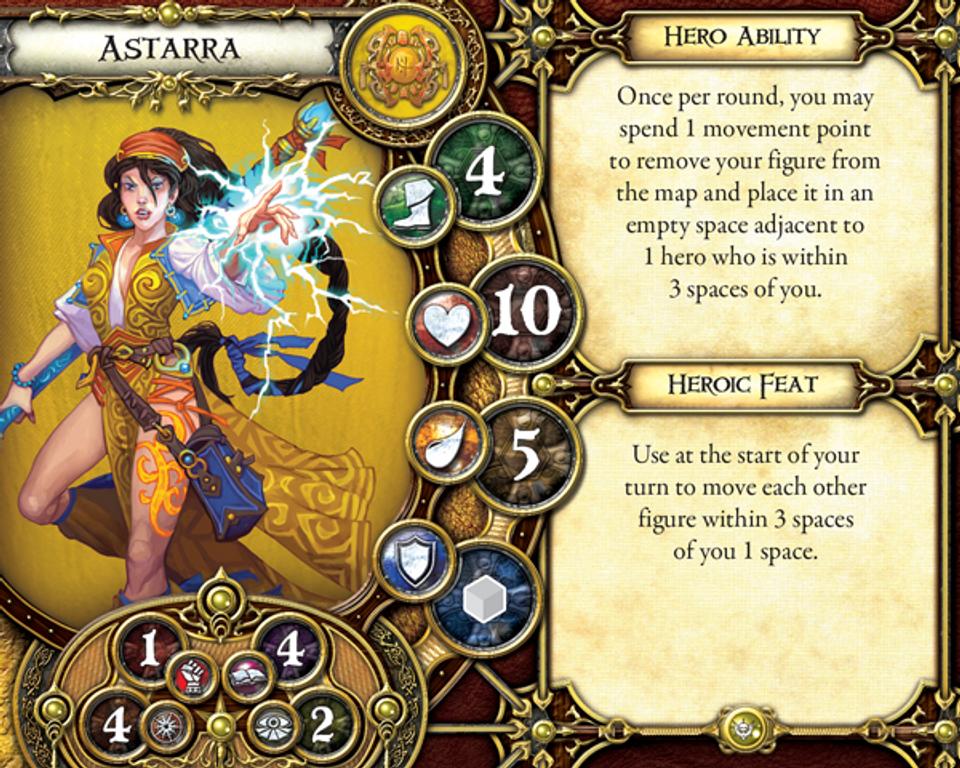 Descent: Journeys in the Dark (Second Edition) – Crusade of the Forgotten Astarra card