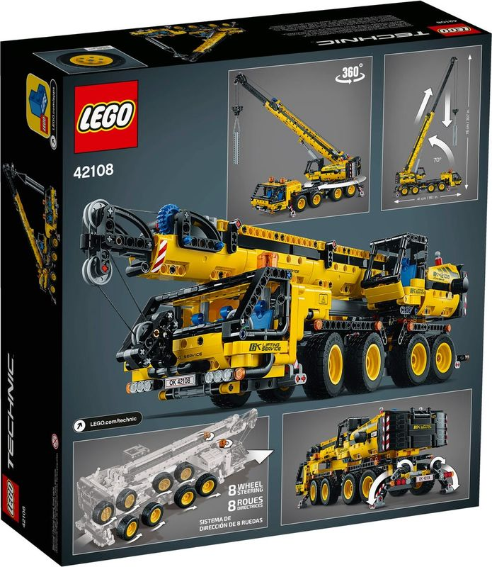 Mobile Crane back of the box