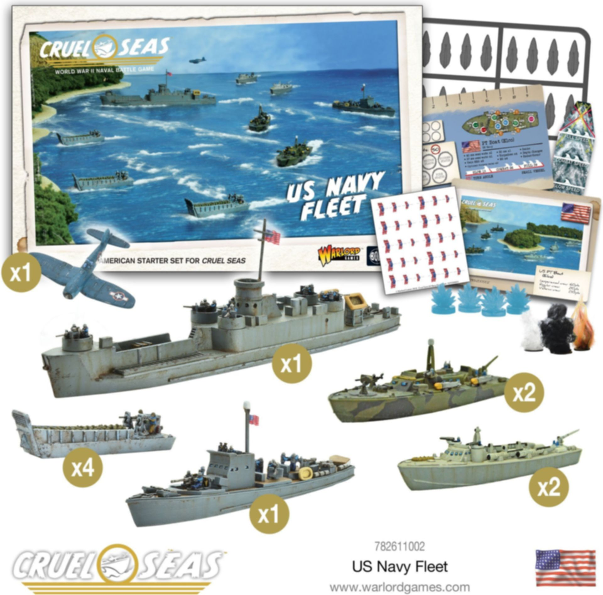 Cruel Seas: US Navy Fleet components