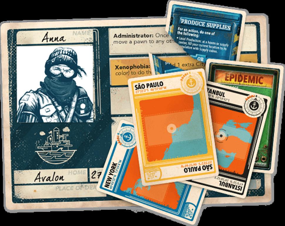 Pandemic Legacy: Season 2 - Black Edition cards