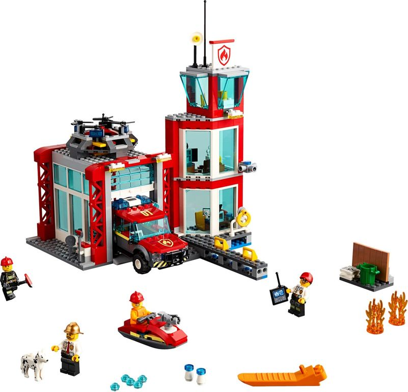 LEGO® City Fire Station components