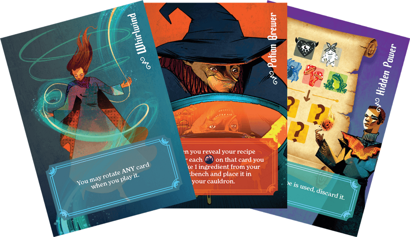Whirling Witchcraft cards