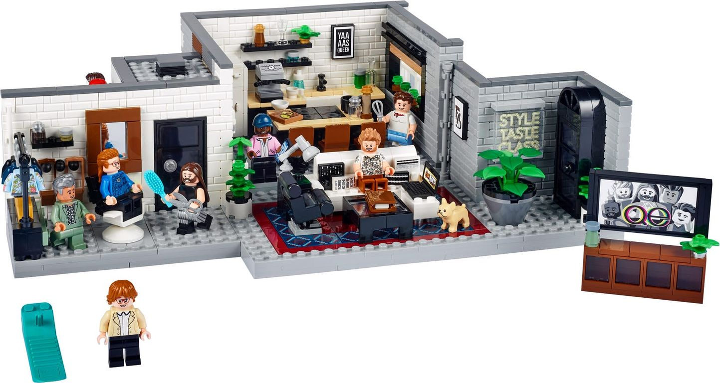 LEGO® Creator Expert Queer Eye – The Fab 5 Loft components