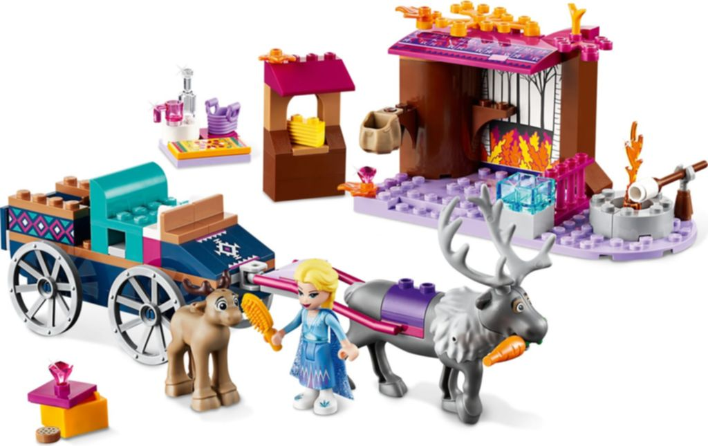 LEGO® Disney Elsa's Wagon Adventure components
