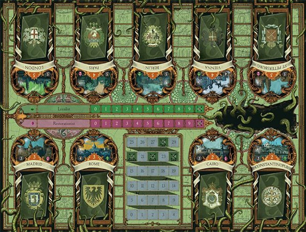 A Study in Emerald (second edition) game board
