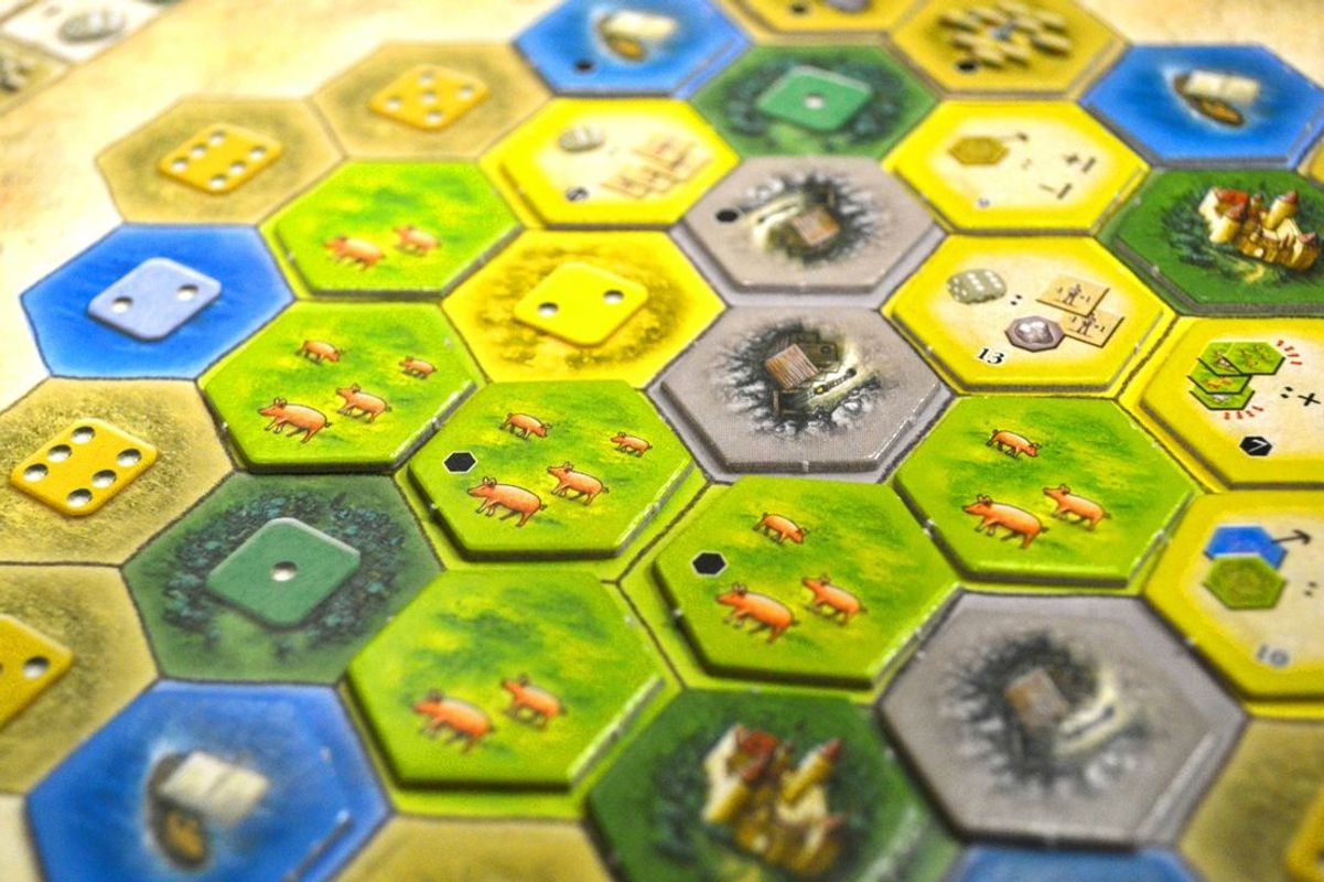 The Castles of Burgundy components