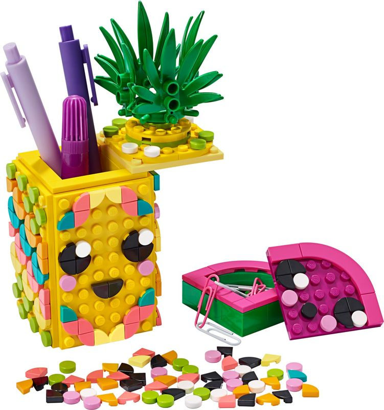 Pineapple Pencil Holder components