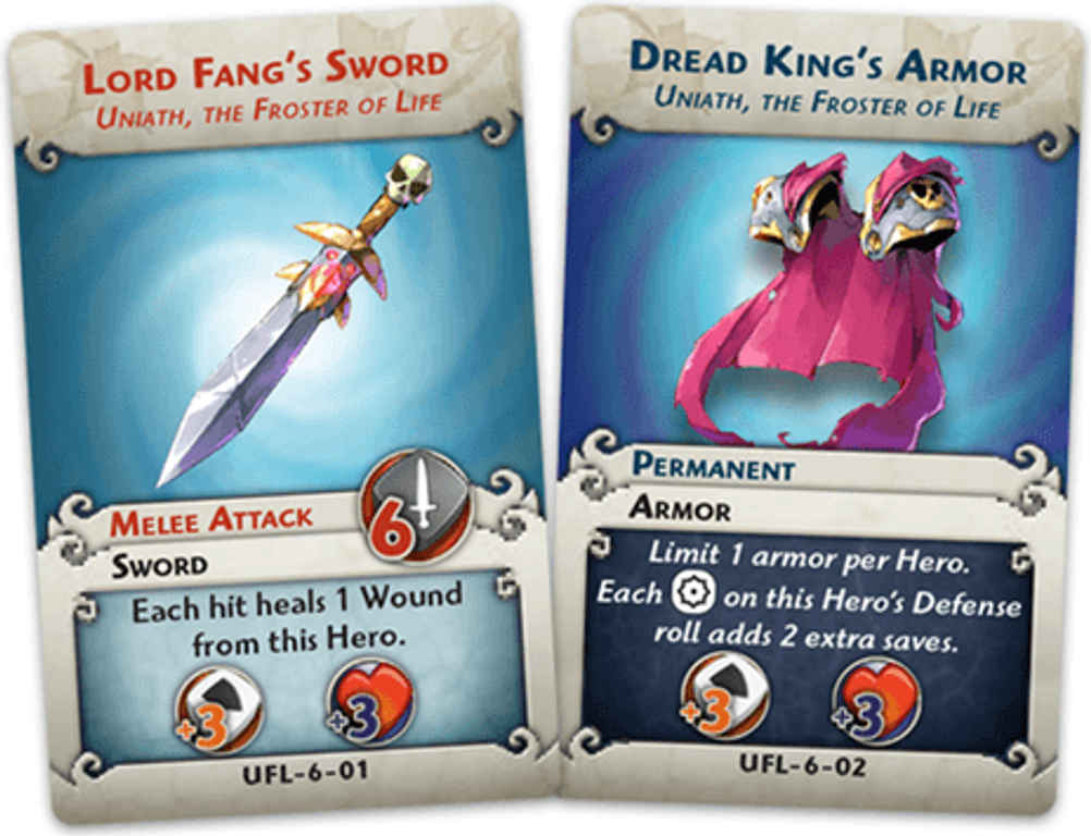 Arcadia Quest: Frost Dragon cards