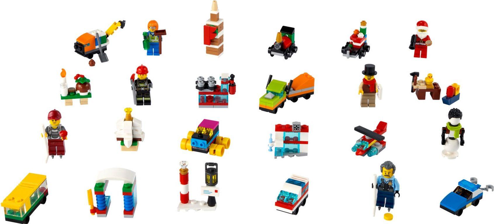 LEGO® City Advent Calendar 2021 components