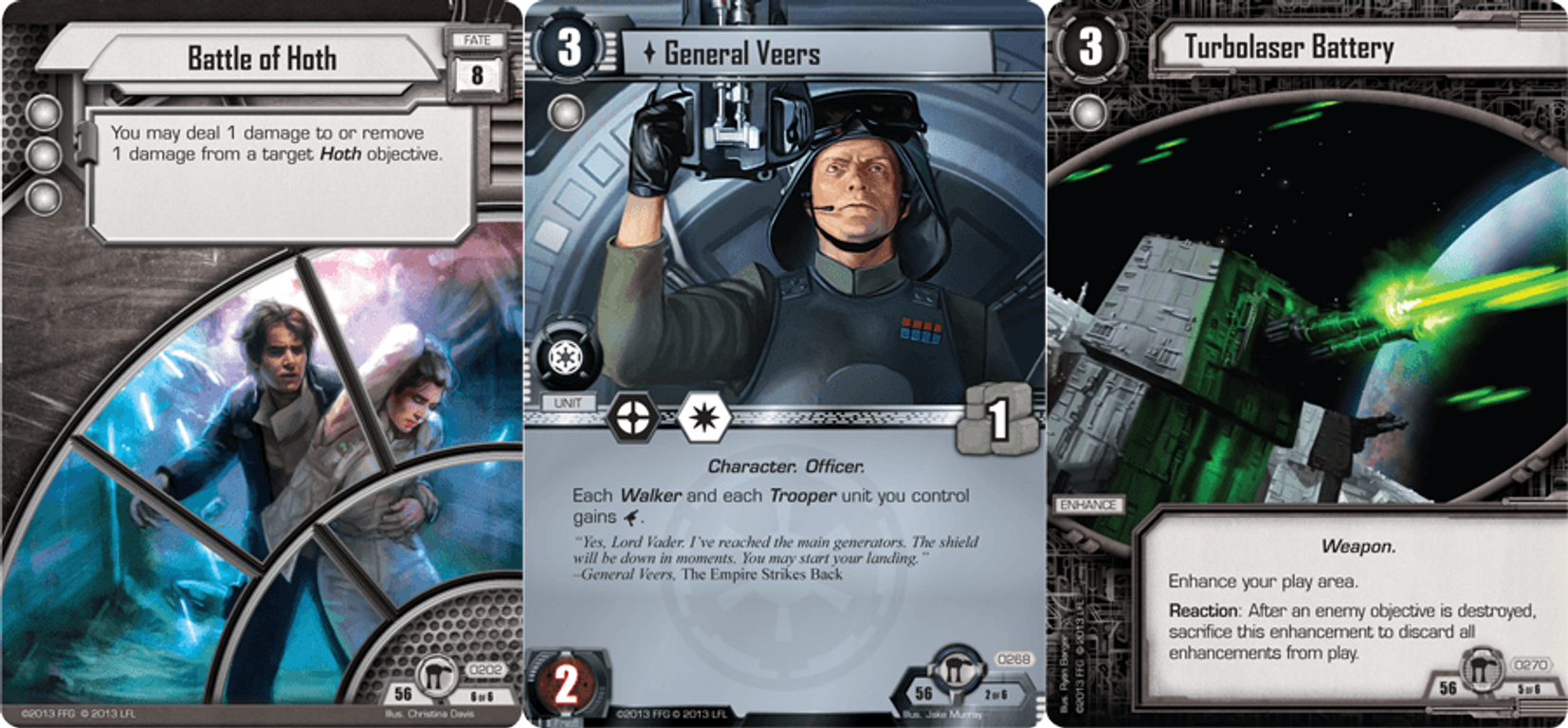 Star Wars: The Card Game - Assault on Echo Base cards