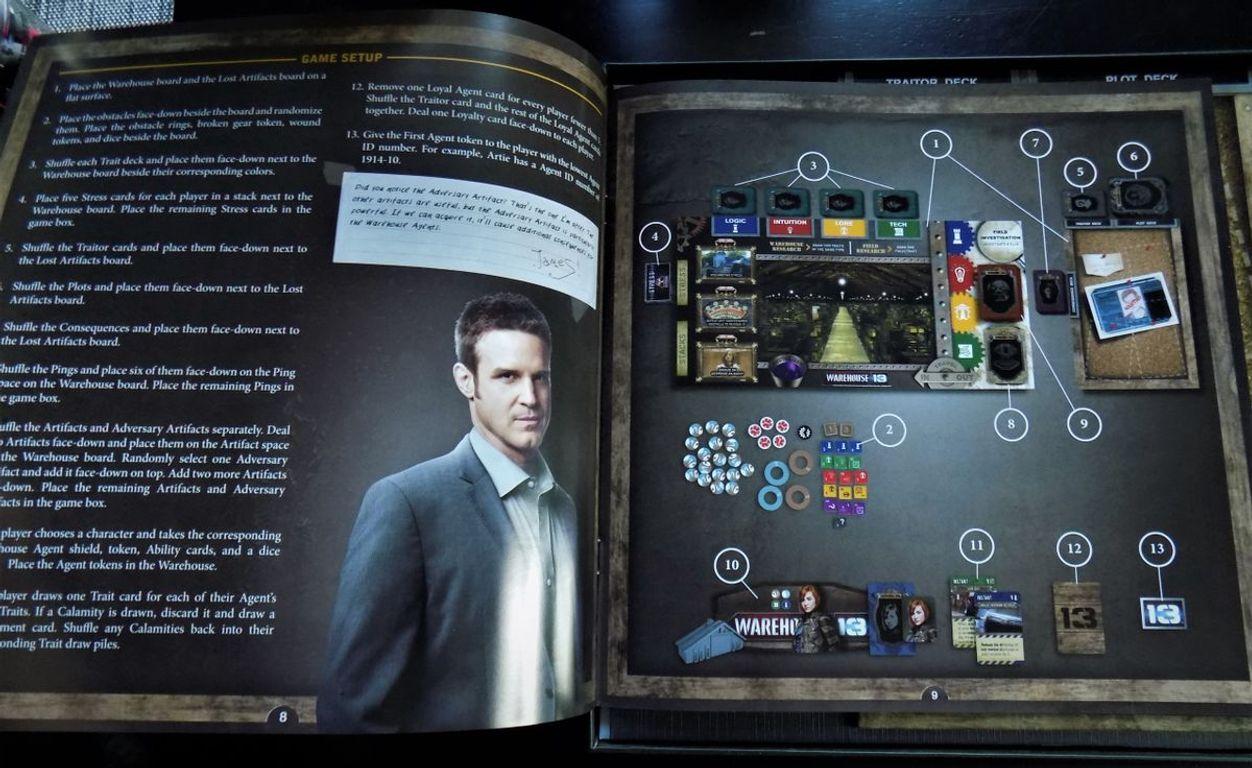 Warehouse 13: The Board Game manual