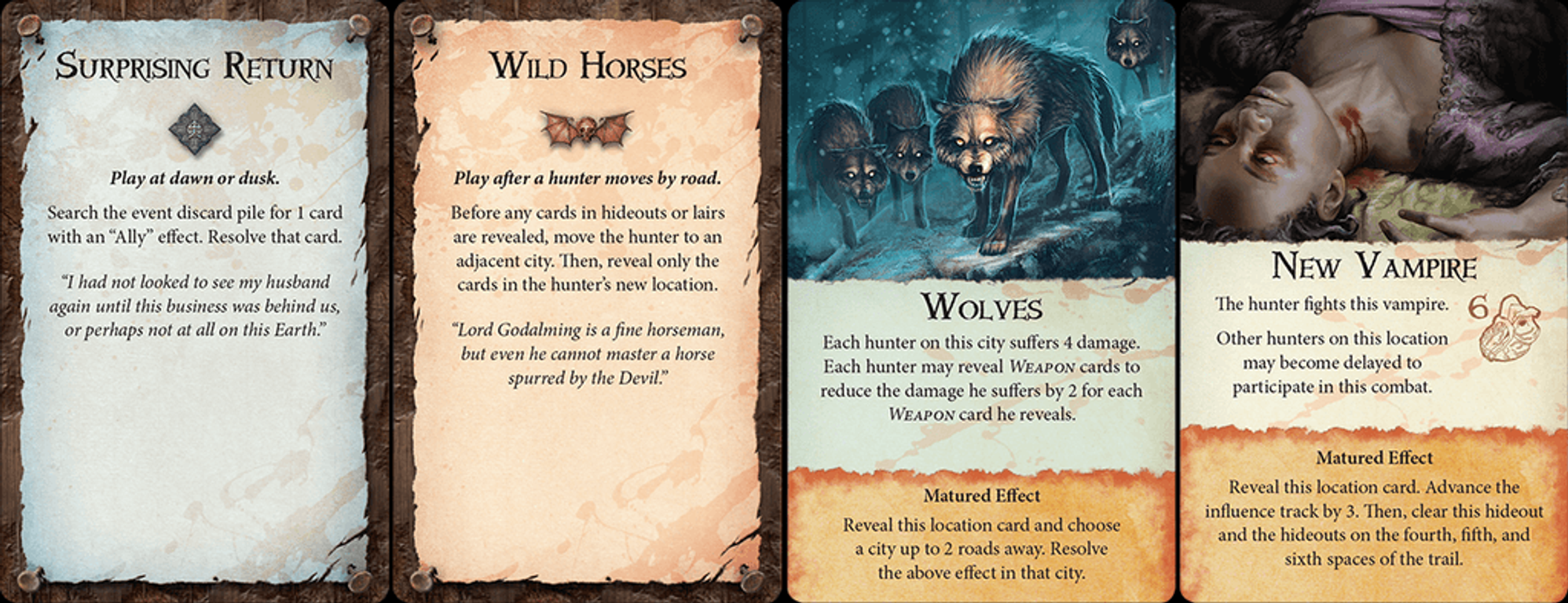 Fury of Dracula cards