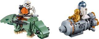 LEGO® Star Wars Escape Pod vs. Dewback™ Microfighters components