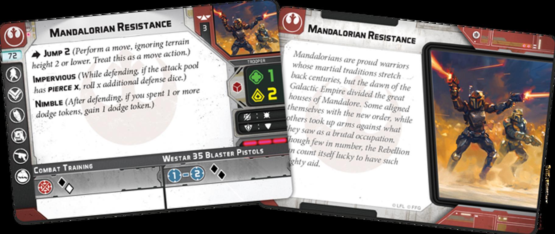 Star Wars: Legion – Clan Wren Unit Expansion cards