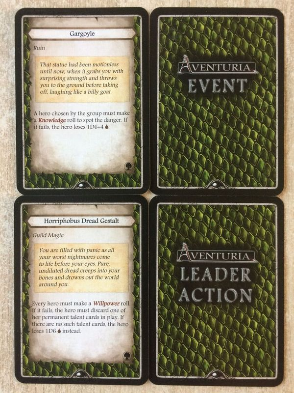 Aventuria: Forest of No Return cards