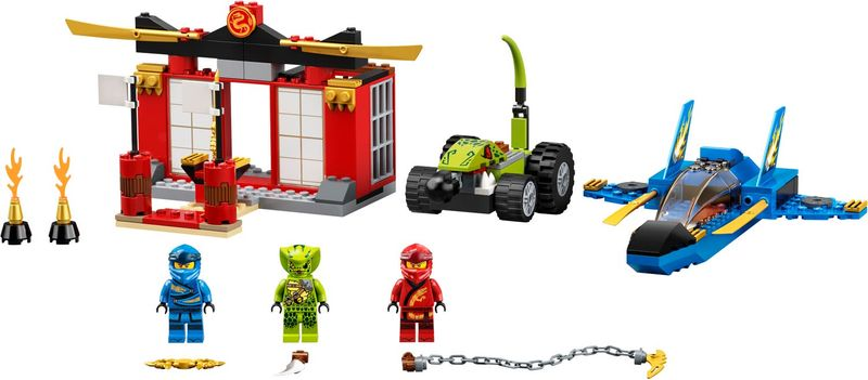 LEGO® Ninjago Storm Fighter Battle components