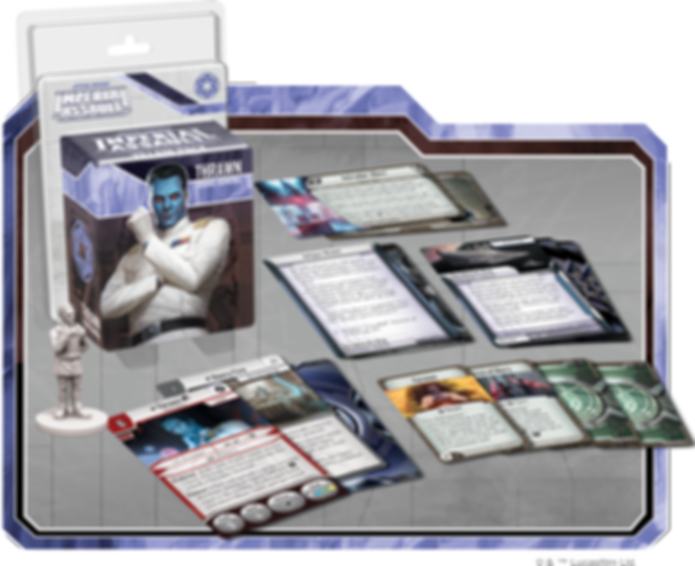 Star Wars: Imperial Assault – Thrawn Villain Pack components