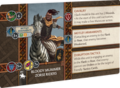 A Song of Ice & Fire: Tabletop Miniatures Game – Bloody Mummer Zorse Riders cards