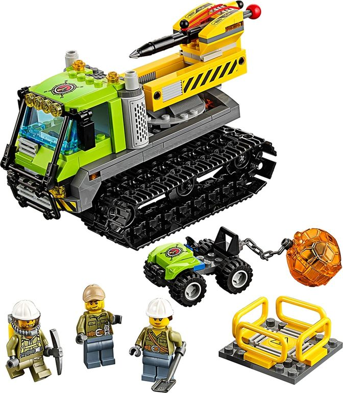 LEGO® City Volcano Crawler components