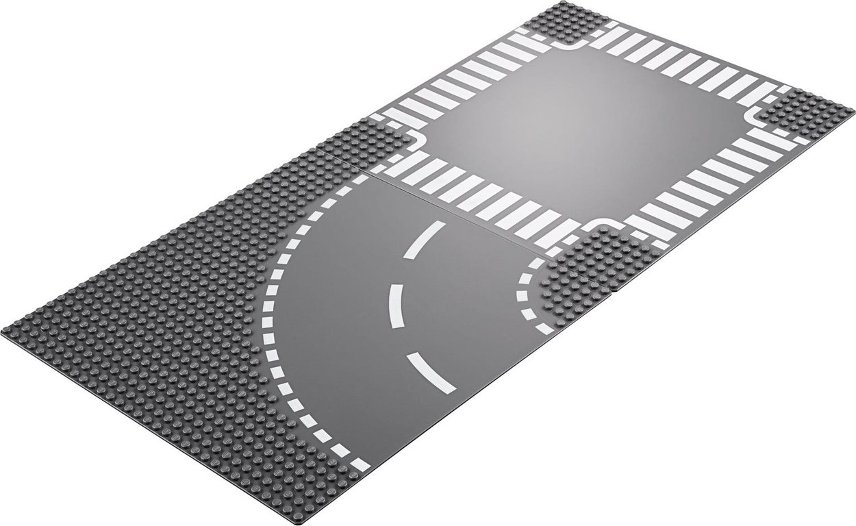 LEGO® City Curve and Crossroad components