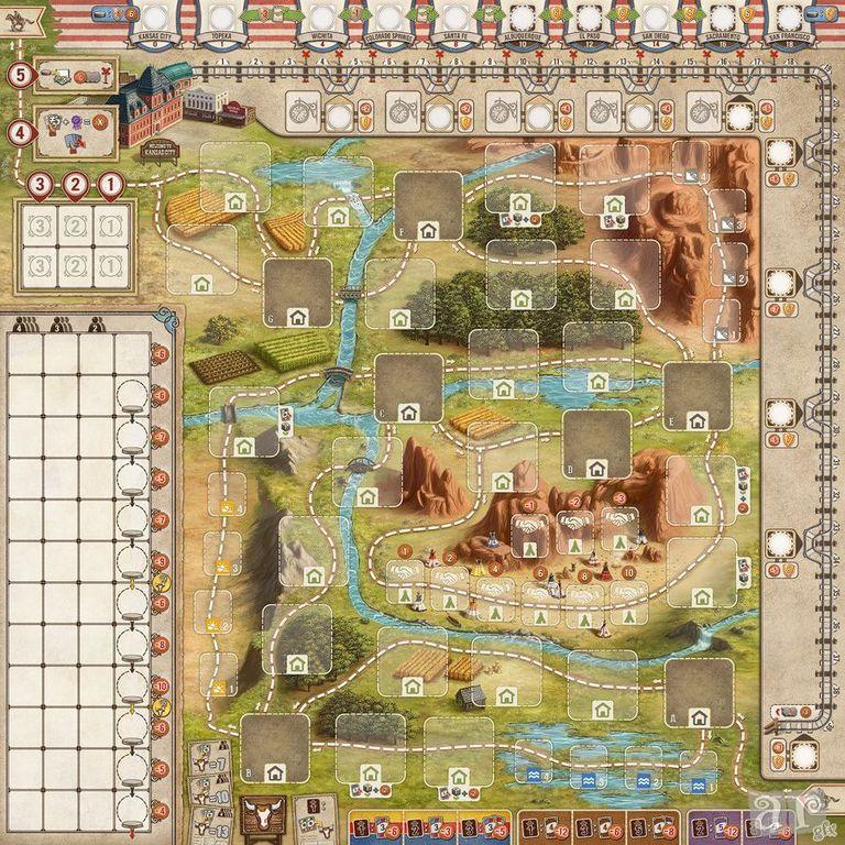 Great Western Trail game board