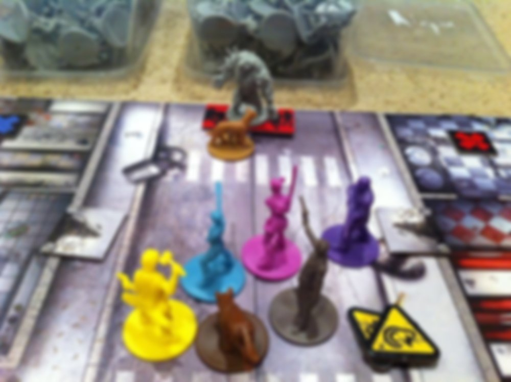 Zombicide Box of Dogs Set #6: Dog Companions gameplay