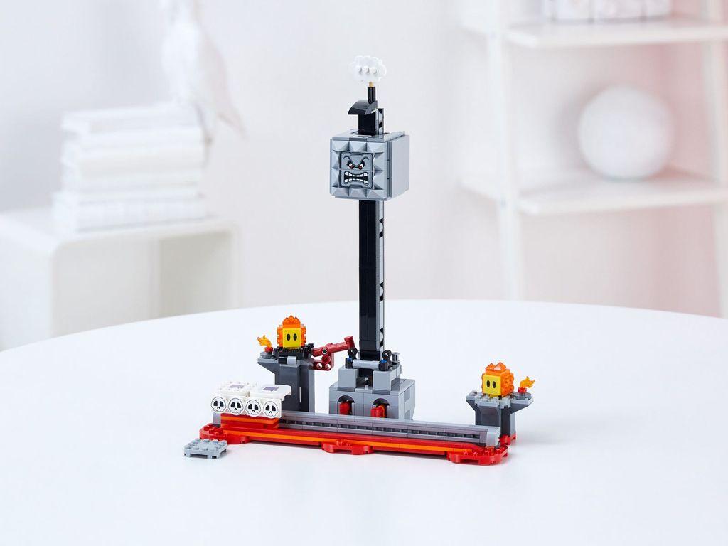 LEGO® Super Mario™ Thwomp Drop Expansion Set components