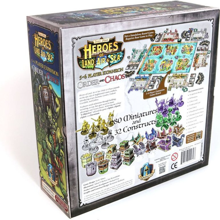 Heroes of Land, Air & Sea: Order and Chaos back of the box