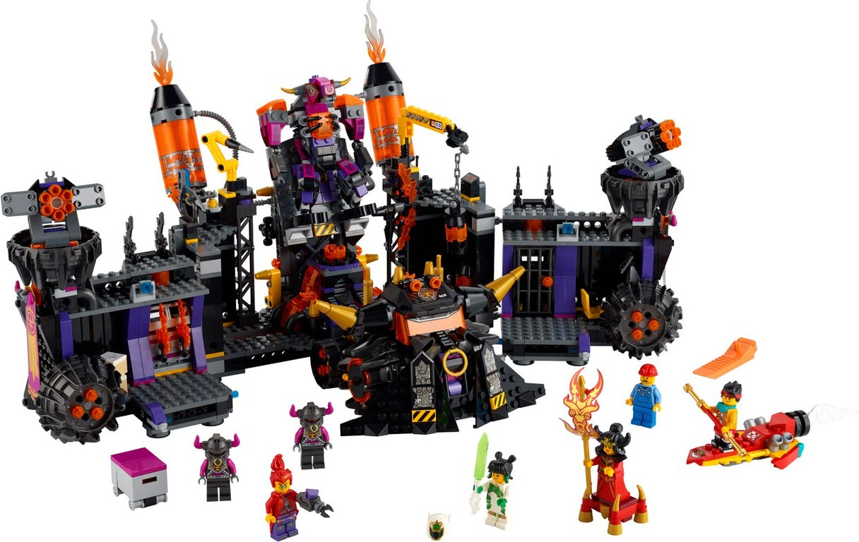 LEGO® Monkie Kid The Flaming Foundry components
