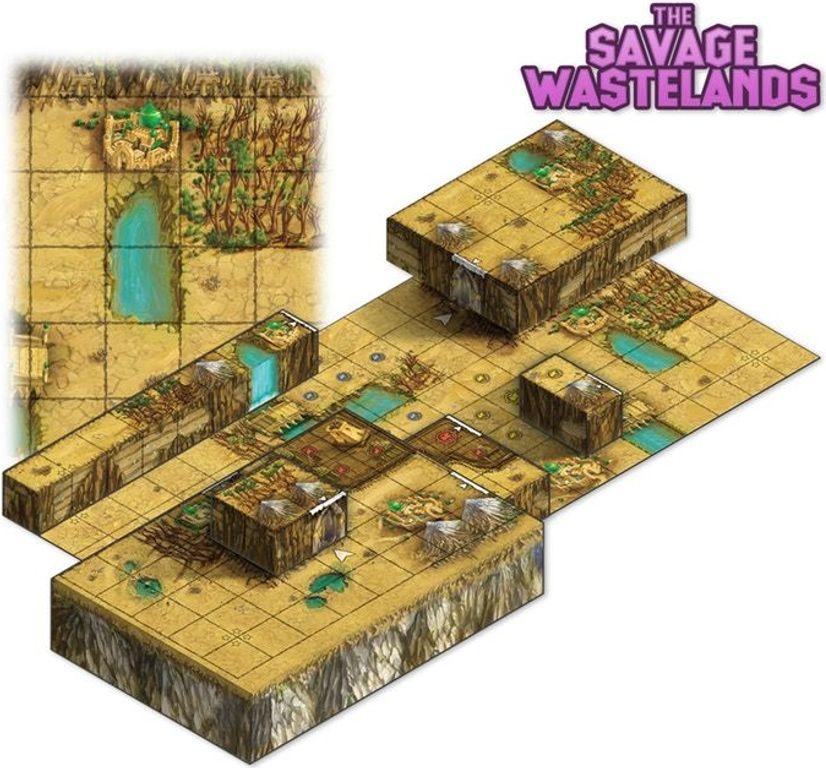 Tiny Epic Tactics: Maps Expansion components