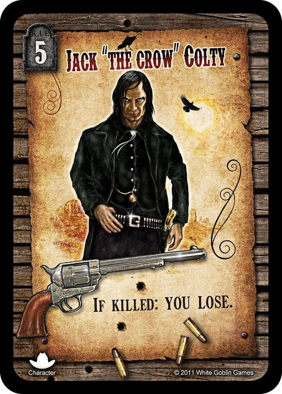 """Revolver Jack """"The Crow"""" Colty card"""