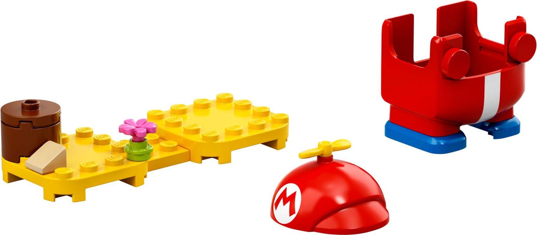 LEGO® Super Mario™ Propeller Mario Power-Up Pack components