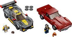 LEGO® Speed Champions Chevrolet Corvette C8.R Race Car and 1968 Chevrolet Corvette components