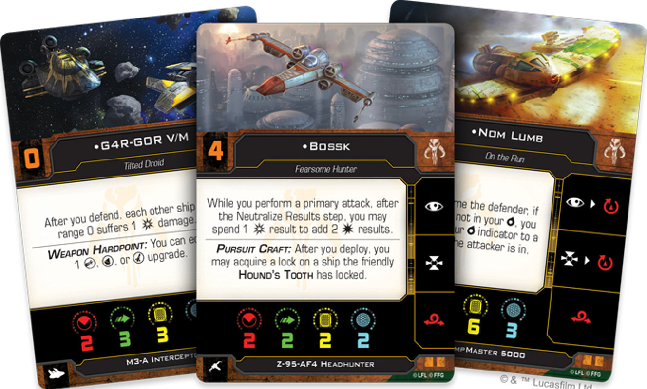 Star Wars: X-Wing (Second Edition) – Hotshots and Aces Reinforcements Pack karten