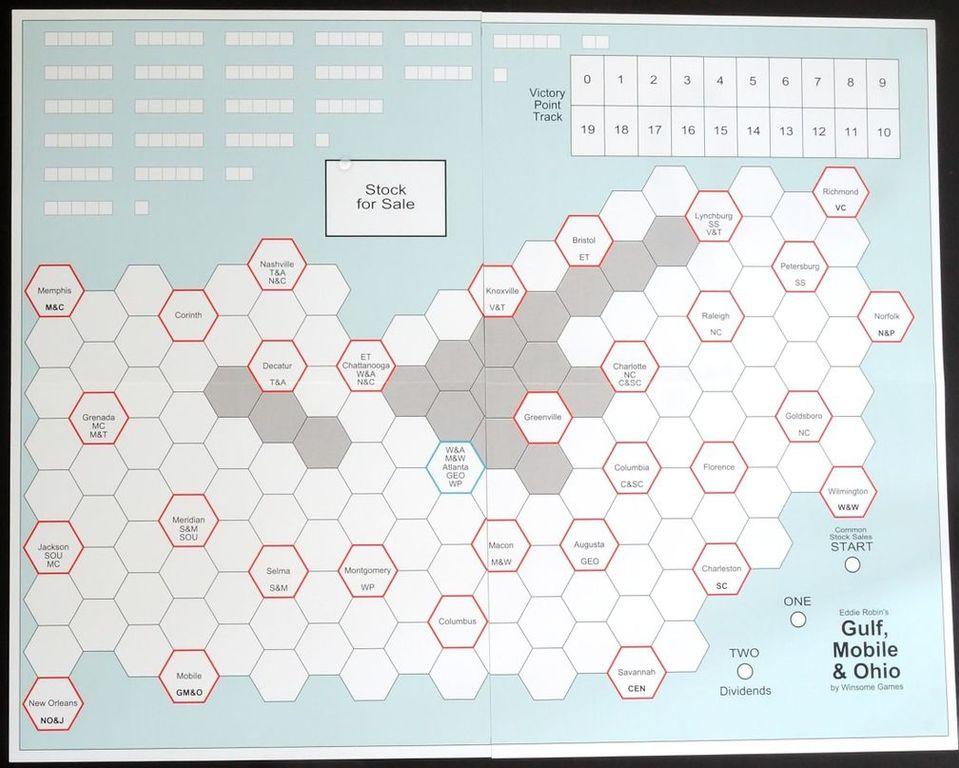 Gulf, Mobile & Ohio game board