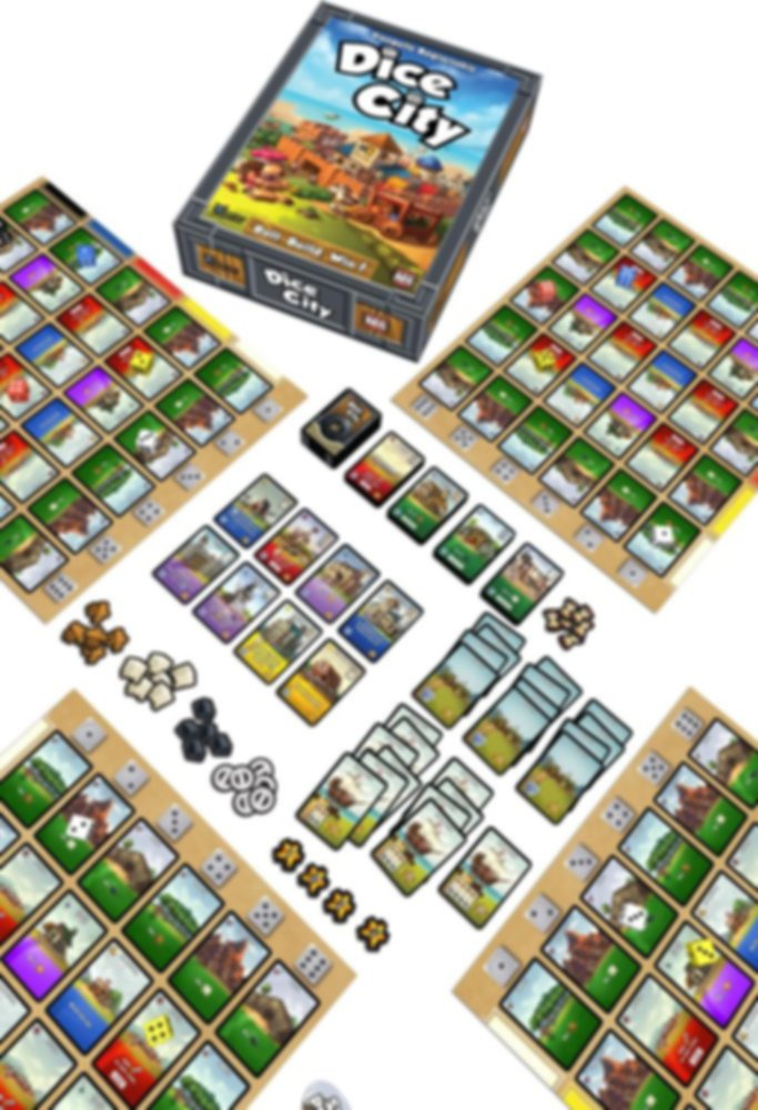 Dice City components