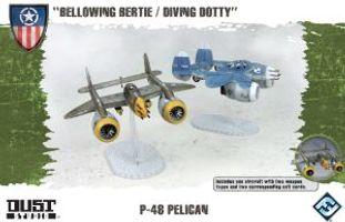 """Dust Tactics: Allies P-48 Pelican - """"Bellowing Bertie / Diving Dotty"""""""