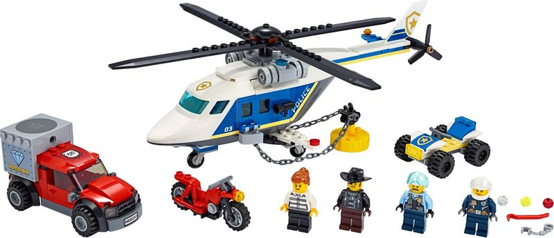 LEGO® City Police Helicopter Chase components