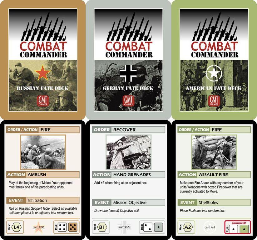 Combat Commander: Europe cards